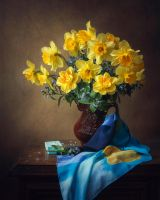 Still life with daffodils by Daykiney