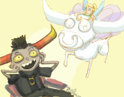 Tinkerbell's steed by Zalein