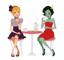 Commission: Rose + Kanaya by lexxercise