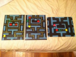 PacMan canvas' by RealKaBoomArt