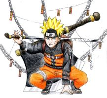 Naruto - Color Pencil by jorabu