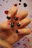 Valentines Day nails by AnorexicMannequin