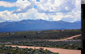 New Mexico Mountains and Underground Houses by DamselStock