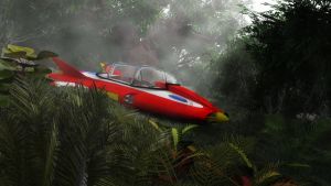 Supercar in the Jungle by Chrisofedf