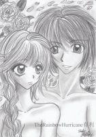 Pencil drawing - Boy and girl by Yuuricchin