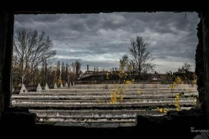 Industrial rooftop by no-trespassing