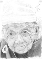 Portrait practice: Old Woman by snowny