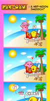 Pac-Man: A Mid-Noon Smooch? by JamesmanTheRegenold