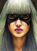 Black Cat Sketch Card 10 by veripwolf