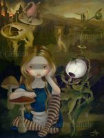 Alice in a Bosch Landscape by jasminetoad
