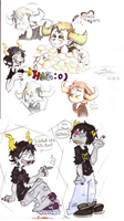 Homestuck doodles by OpticBlast00