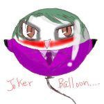 joker balloon by skylord1015