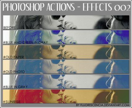 Photoshop Action - Effects 002 by fluorescencia