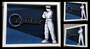 Commission: The Stig Shadowbox by The-Paper-Pony