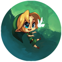 Young Link - OoT Buttons by BloodnSpice