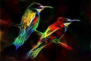 Fractalius Birds by MiniMoo64