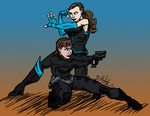 The Dynamic Duo - Colored by LadyCourage