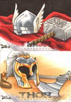 Thor The Dark World sketch cards 1 by mechangel2002