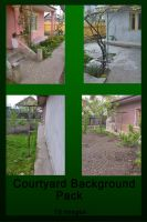 Courtyard Background Pack by SobohRami
