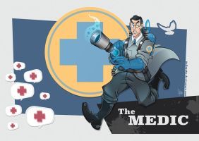 TF2 - The Medic (BLU) by nellroshe