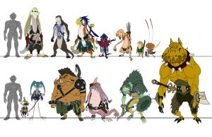 Swordtown Creatures by DanNortonArt