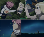 Natsu and Lucy - Looking the stars. by AlynColt