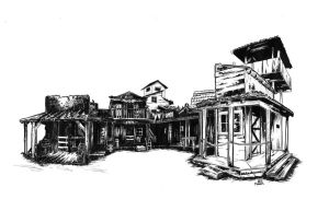 the Wild West Town by sketchmarcks