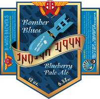 Bomber Blues Blueberry Pale Ale - beer label by HazardThree