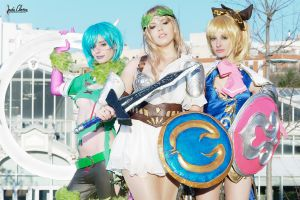 Sophitia, Tira and Cassandra by sumyuna