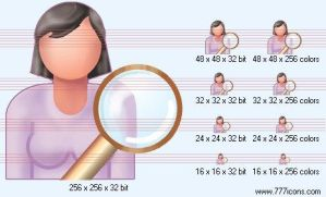 Search patient-woman Icon by medical-icon-set