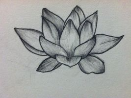 Lotus Flower Tattoo Design by thelinesthattied