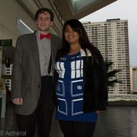 The Doctor and his TARDIS by Aether-Shadow