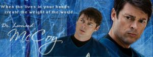 Karl Urban - Dr. McCoy banner by poundingonthedoor