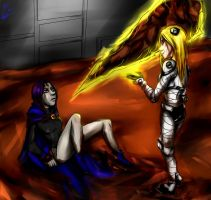 request: Raven vs Terra by MegS-ILS