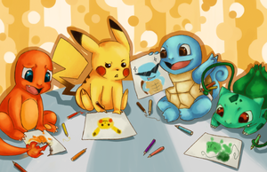 Pokemon Drawing Time by frozentofu
