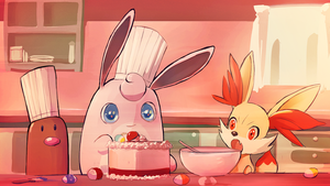 Easter Bake Sale by PinkPuffKirby