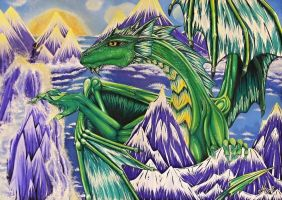 Green Dragon in the Blue mountains by Nessa293