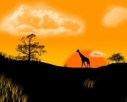 African Landscape by little-billie