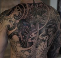 Backpiece progress by strangeris