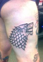 Dire Wolf Tattoo by HowComeHesDead