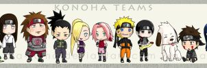 Konoha Teams by Pia-sama