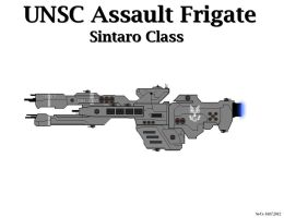 UNSC Assault Frigate - Sintaro Class by Seeras