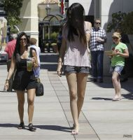 Kendall an Kourtney walk by lowerrider
