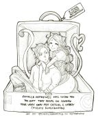 Kvothe and Denna as Catboy and Catgirl! by heycheri