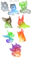 5 dollah colored bust sketches by Chebits