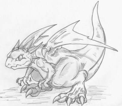 Breath of Fire 3 baby dragon by toki999