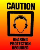 Hearing Protection Sign by Undergr0undFurry