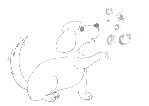 Doggy and Bubbles by Melinde-Mari