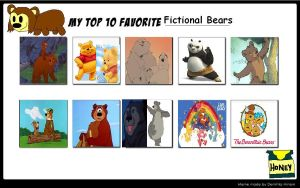 Top 10 Favorite Bear Characters by KessieLou