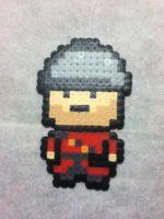 -Perler- TF2 RED Soldier by OtakuLuka